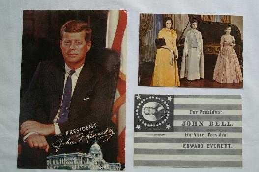 Political postcards for sale.
